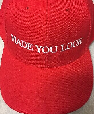 MADE YOU LOOK Trump Inspired Parody Hat Cap EMBROIDERED