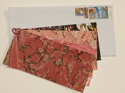 Quality French Machine Marbled paper sample swatch book