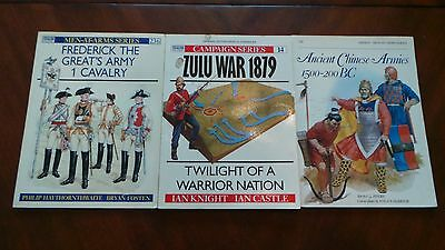 Lot of 3 Osprey Military Men-At-War & Campaign Series Books 218 236 14 - Nice!
