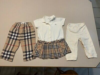 BURBERRY Baby Girl's (Lot of 3) Nova Check Dress and 2 Pants size 18 Months