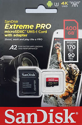 SanDisk  32 64 128 256 400GB Extreme PRO Micro SD SDXC  Memory Card UP TO 170MBs