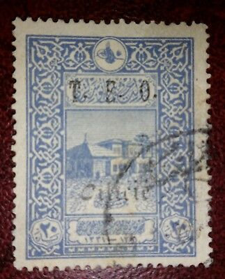"""TURKEY 1916 STAMP - USED - 1919  - OVERPRINT """"T.E.O. Cilicie""""  FRENCH OCCUPATION"""