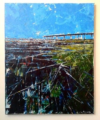 Original art for sale by American artist abstract impressionist landscape
