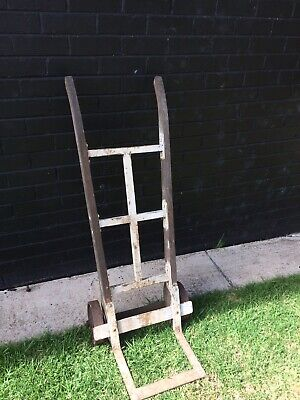 Vintage Heavy Duty Hand Trolley with Metal Wheels 130cm