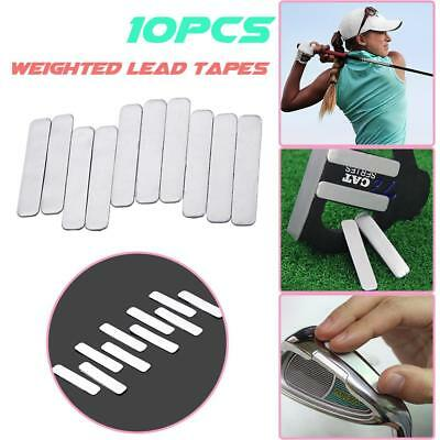 10 Adhesive Lead Tape Strips Add Power Weight to GOLF CLUB Tennis Racket RACQUET