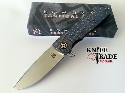 Komoran KO009 Folding Pocket Knife Flipper Deployment Titanium Handle U2X Blade