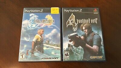 2 Sony Playstation II Games - Resident Evil 4 and Final Fantasy X