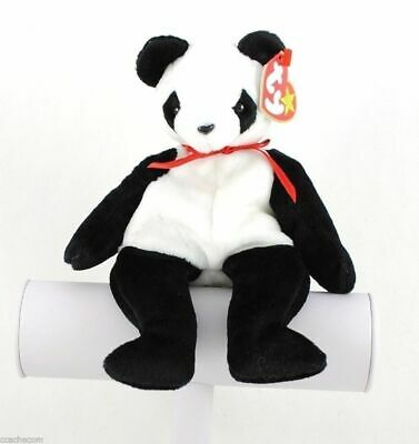 Fortune Panda Bear Original Ty Beanie Babies Baby with Tags DOB 1997