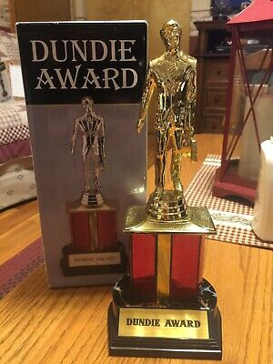 The Office Dundie Trophy Award w/ plates Made By NBC