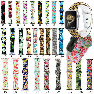 Replacement Silicone Apple Watch Wristband Sports Band Strap 38mm 42mm 40mm 44mm