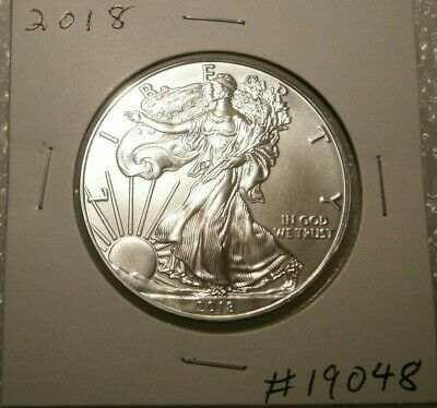 2018 American Eagle Silver Dollar Gem  BU Uncirculated 1 Oz. Fine Silver #19048