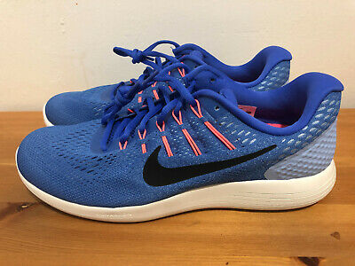 brand new 50a49 e506d NIKE LUNARGLIDE 8 Running Shoes Blue Pink White Women's Size 12 Sneaker Zoom