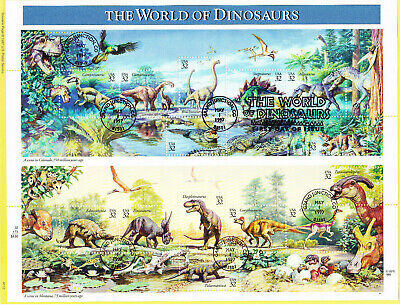 USPS First Day Souvenir Page #3136 World of Dinosaurs Miniature Pane of 15 1997