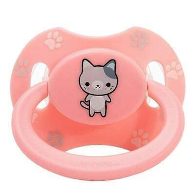 Baby Bear Pacis Pink Printed Kitten Adult Pacifier LittleForBig Bigshield