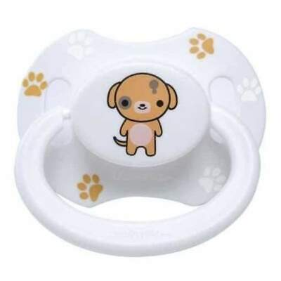 Baby Bear Pacis White Printed Puppy Adult Pacifier LittleForBig Bigshield Gen 2