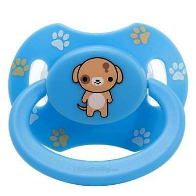 Baby Bear Pacis Blue Printed Puppy Adult Pacifier LittleForBig Bigshield Gen 2