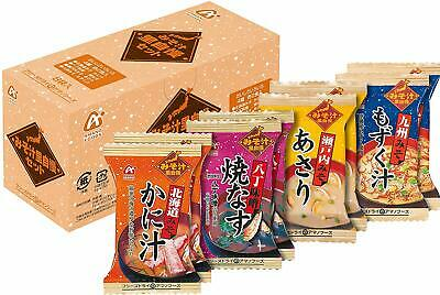 Amano foods freeze dried miso soup Set 90g( 4 tastes x 8 packs set ) From Japan