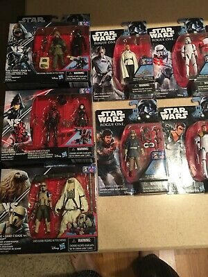 Lot of 23 Carded Star Wars Rogue One Action Figures