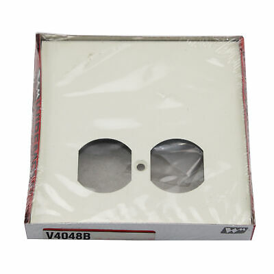Wiremold Legrand V4048B Duplex Device Face Plate, Ivory (5 Pack)