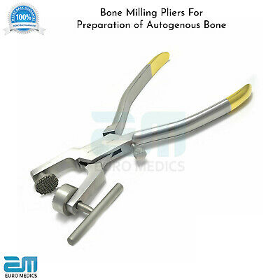 Bone Crushing Mill Pliers TC Morselizer Implant Dental Surgery Instrument NEW CE