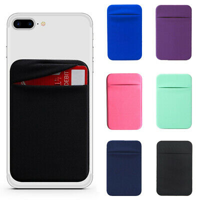 For Phone Elastic Adhesive Sticker Money Credit Card Pocket Holder Case Pouch
