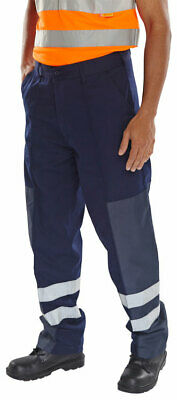 CLICK Polycotton/Nylon Patch Trousers Ballistic Front Seams Heavy Duty CORDURA