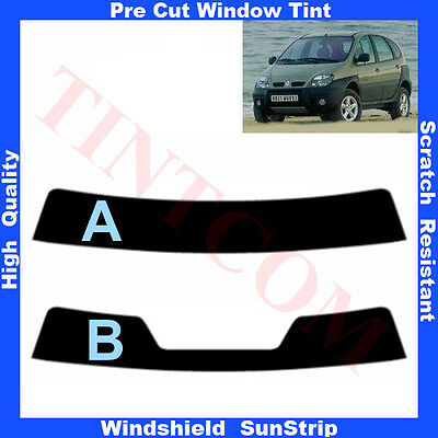Pre Cut Window Tint Sunstrip for Renault Scenic RX4 5 Doors 2000-2003 Any Shade