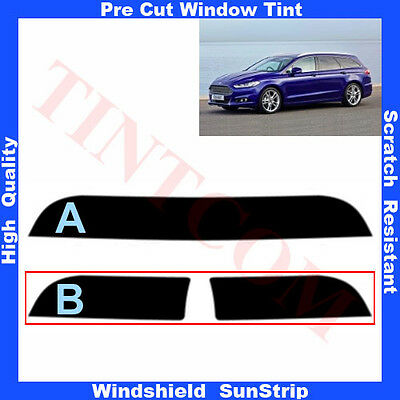 Pre Cut Window Tint Sunstrip for Ford Mondeo 5 Doors Estate 2014-... Any Shade