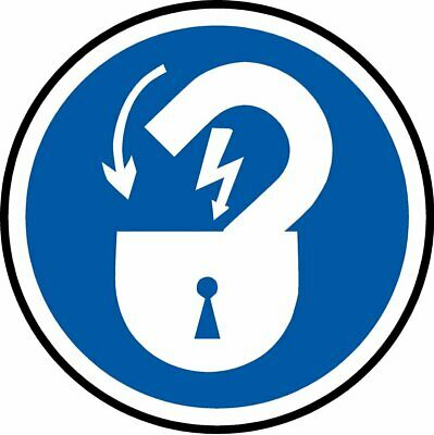 Lock door when finished ISO - safety symbol sign