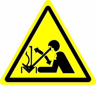 ISO Safety Label Sign - International Warning Rapid movement of workpiece