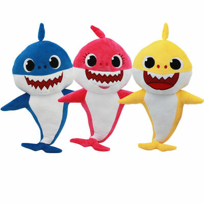 Soft Dolls Shark toy with Music Sound Cute Animal Plush Singing Dol