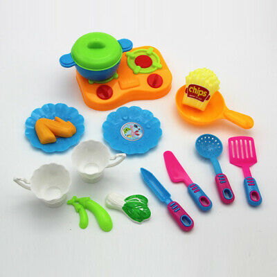 18pcs Kitchen toy Kids Pretend Role Play Toys Cutting Gift Game Christmas Child