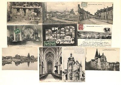 10 - Lot 10 CPA - MAILLY,VILLE,RIGNY,MARDS,CLAIRVAUX,FOUCHERES,ESSOYES, ......