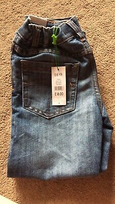 Boys Jeans 5-6 Brand New Adjustable Wasit