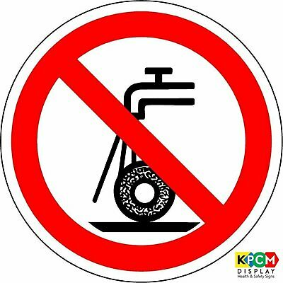 ISO Safety Label Sign - International Do not use for wet grinding Symbol