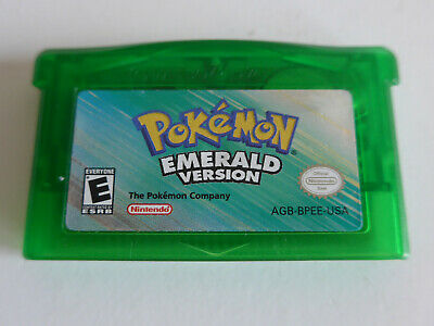 Pokemon Emerald Version Nintendo Gameboy Advance GBA SP DS Game Tested Genuine