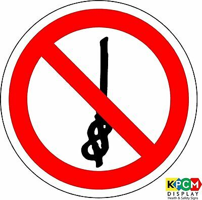 ISO Safety Label Sign - International Do not tie knots in rope Symbol