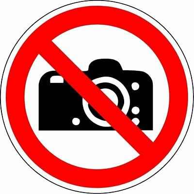 ISO Safety Label Sign - International No photography Symbol