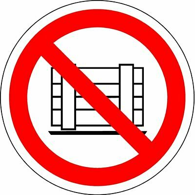 ISO Safety Label Sign - International Do not obstruct Symbol