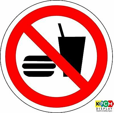 ISO Safety Label Sign - International No eating and drinking Symbol