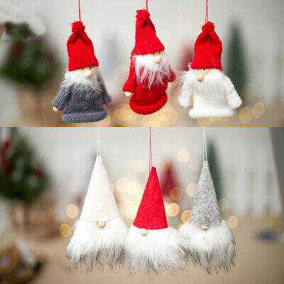 Wine Bottle Bouth Cover  Christmas Tree Ornament Bag Pendant Santa Claus Doll