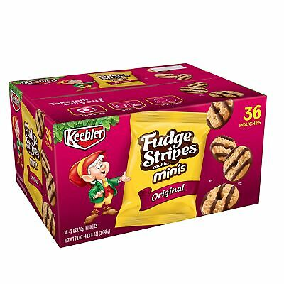 Keebler Fudge Stripes Cookies Minis Original 72 Oz 36 Count