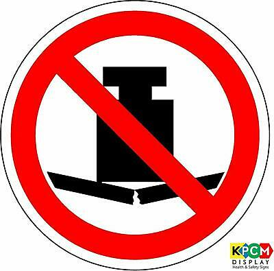 ISO Safety Label Sign - International No heavy load Symbol