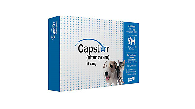 Novartis Capstar Flea Tablets for Dogs and Cats 6 Count 2-25 lbs Blue Free Ship