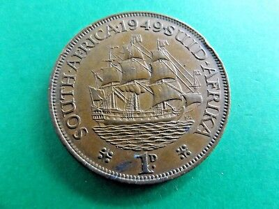 SOUTH AFRICA 1949 Penny