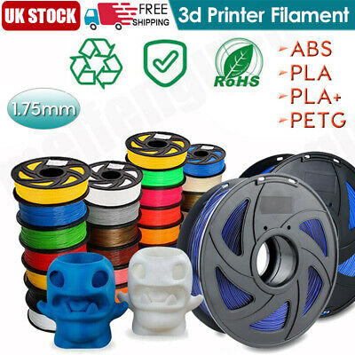 1.75mm -3D Printer Filament PLA/ABS - 1KG 340Meters  - Various Colours Available