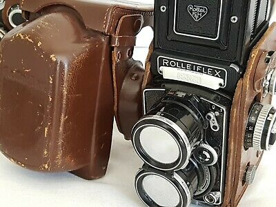 Rollei Tele Rolleiflex #2302595 Zeiss Sonnar 135 f4 w/ light meter PERFECT GLASS