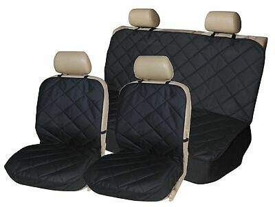 Premium Front + Rear Quilted Car Dog Pet Seat Covers Full Set For Alfa 147