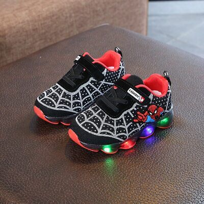 Scarpe bambino luci spiderman  led  kids shoes lights bimbo
