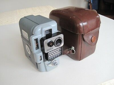 Eumig Servomatic Vintage Cine Camera With Leather Case.